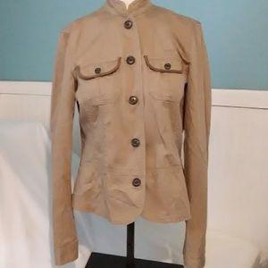 Chaps Denim Tan Button Down Jacket
